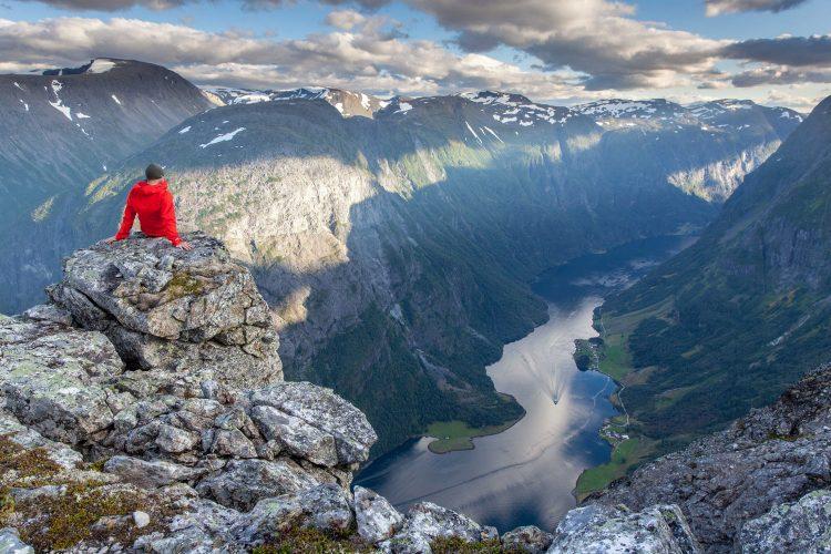 Blick auf norwegische Fjorde