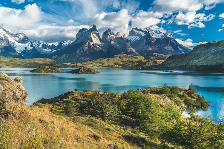 Gigantische Landschaft des Torres del Paine Nationalparks