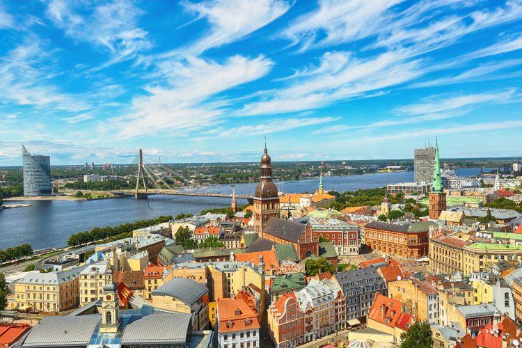 Blick über Riga