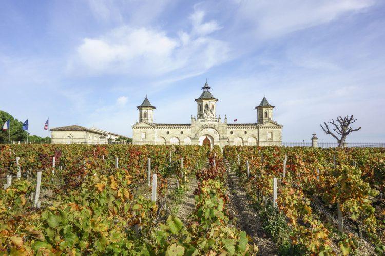 Schloss Cos d'Estournel bei Bordeaux