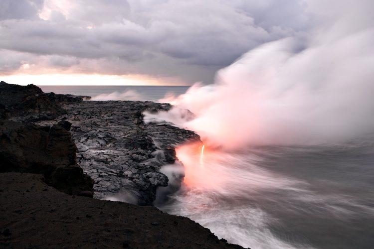 Lava-Landschaft auf Hawaii