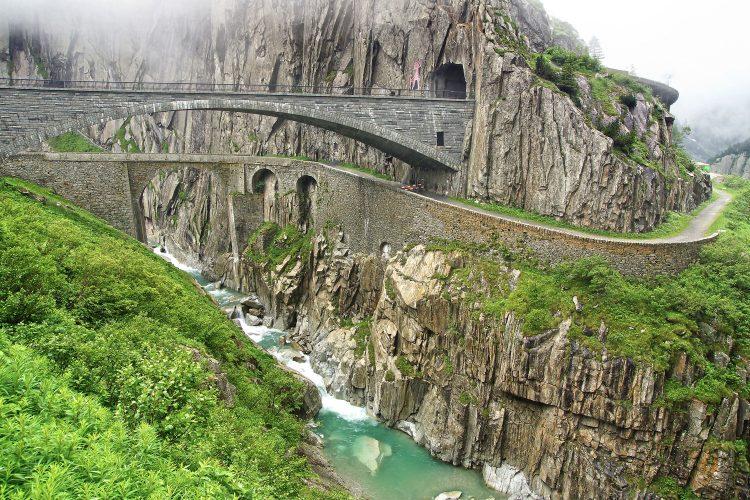 Teufelsbrücke in Andermatt