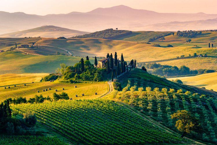 Traumhafte Landschaft der Toskana