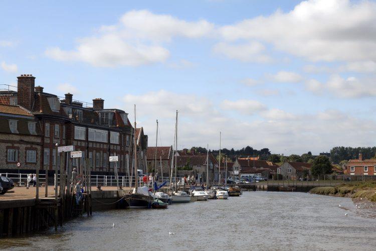 Boote im Blakeney Harbour, Norfolk