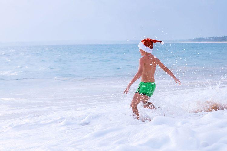Weihnachten am Strand in Down Under