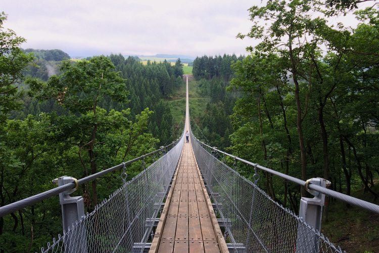 Für Mutige: Hängeseilbrücke Geierlay