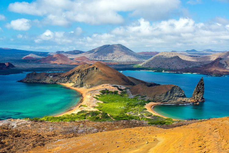 Blick von der Galapagos-Insel Bartolomé