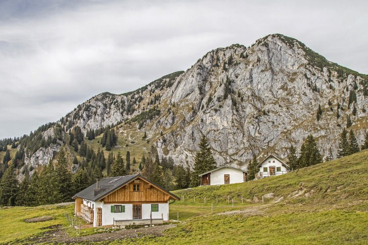 Viele Hütten sind im Herbst geschlossen.