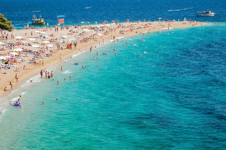 Strand der Insel Brac