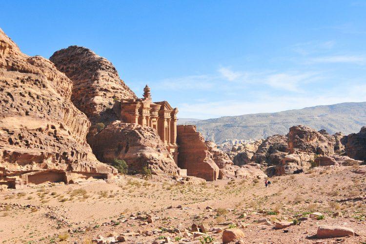 Wüstenlandschaft in Jordanien