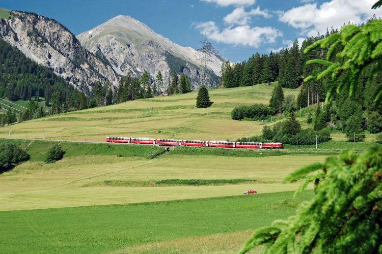 Bernina Express bei Bergün