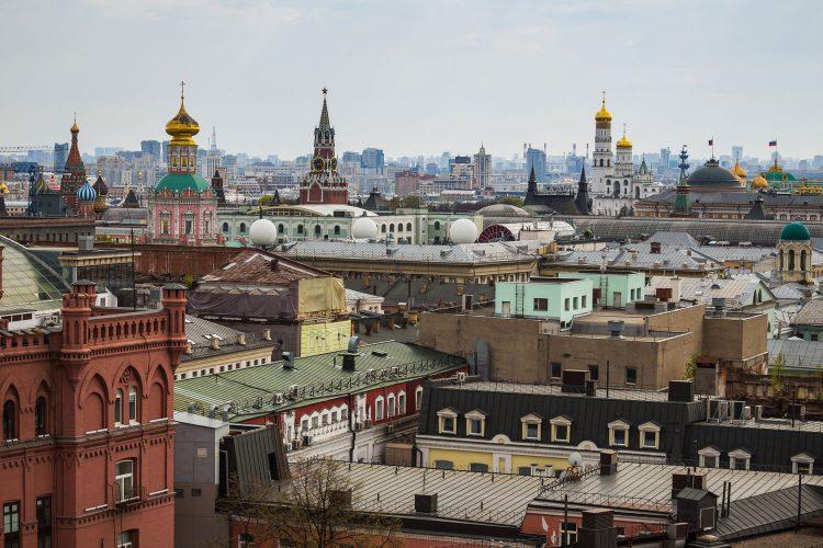 Aussicht über das historische Moskau