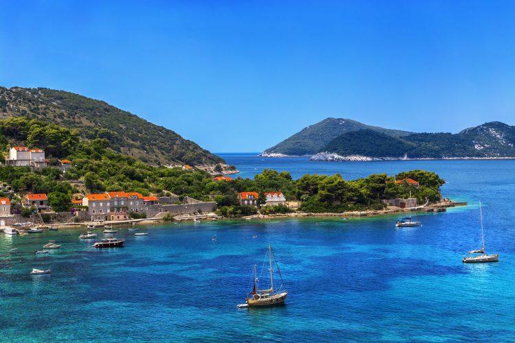 Die kroatische Insel Koločep