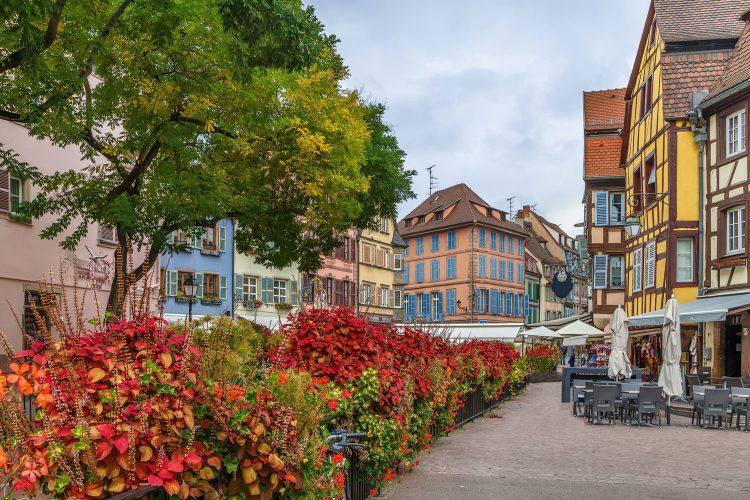 Herbstliche Farben in Colmar