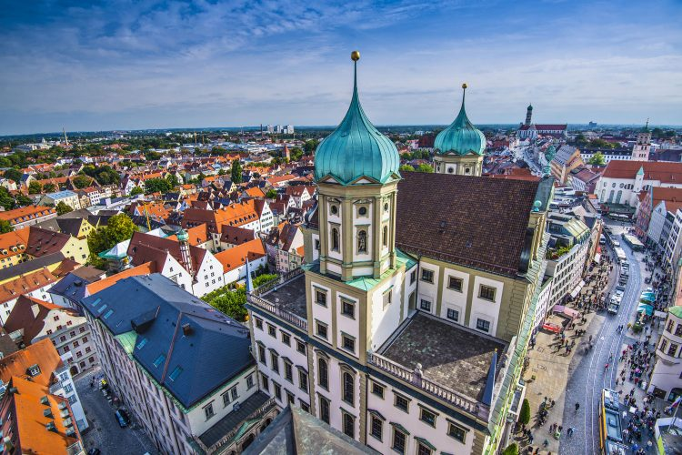Blick auf Augsburg