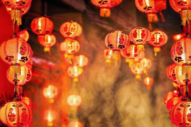 Traditionelle chinesische Neujahrslaternen