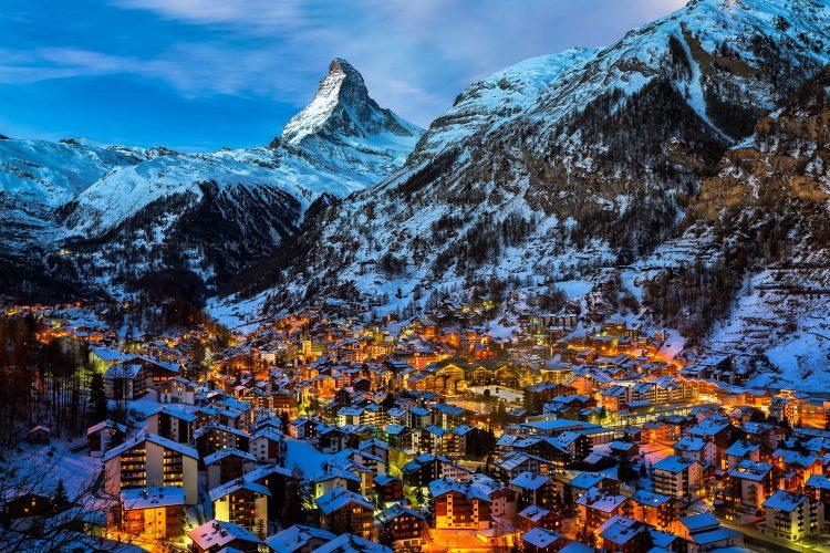 Zermatt am Fuß des Matterhorns