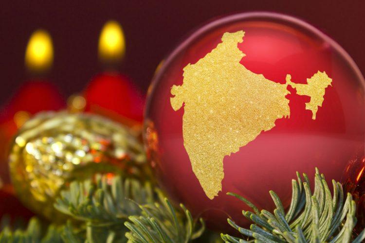In Indien schmückt man Mangobäume oder Bananenstauden weihnachtlich