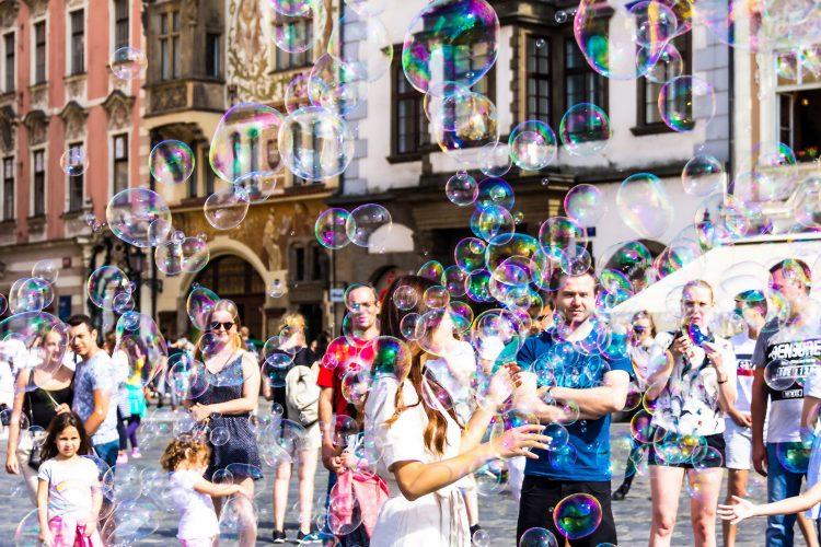 Straßenkünstler in Prag