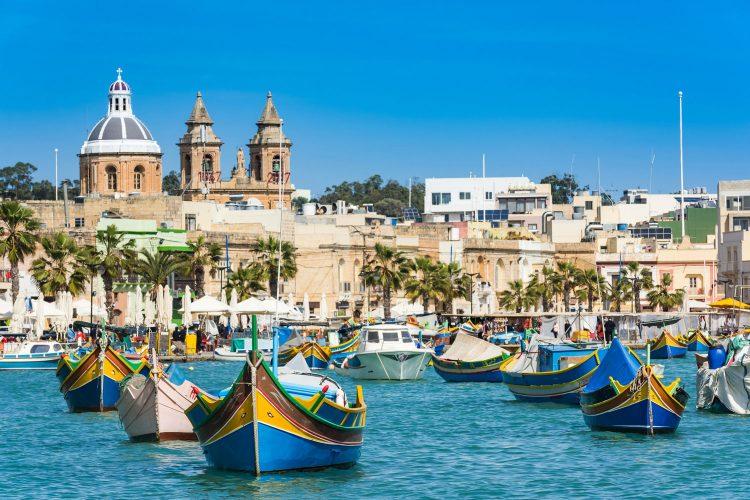 Typische Fischerboote auf Malta