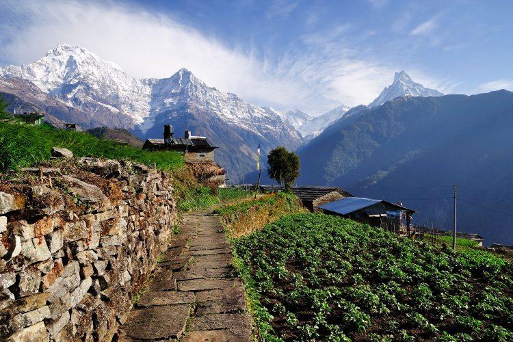 Blick auf den Annapurna, Nepal