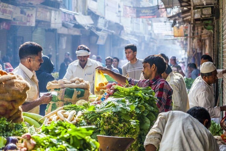 Marktstand in Dehli