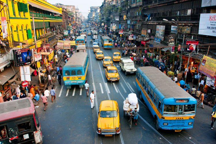 Straßenverkehr in Kalkutta