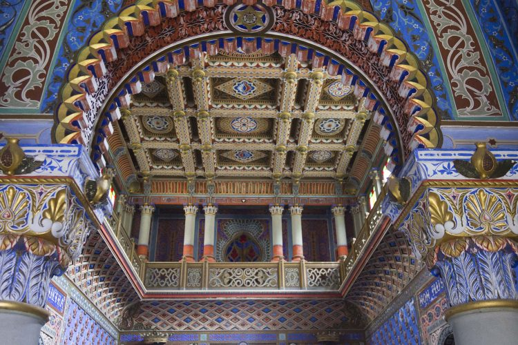 Verzierte Decke im Castello di Sammezzano