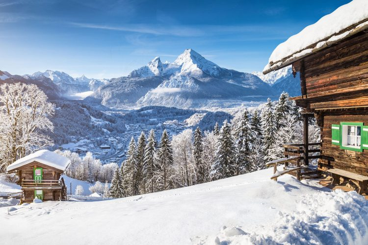 Traumhafte Winterlandschaft in Oberbayern