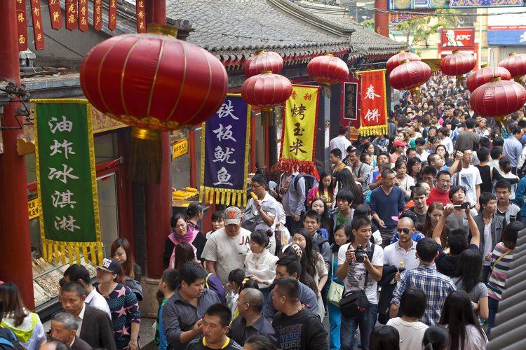 Menschenmenge in Peking