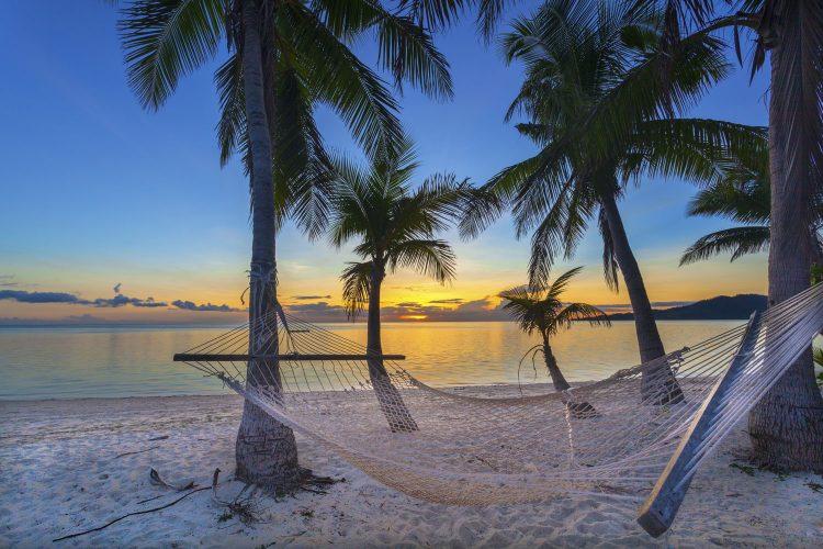 Dämmerung auf Fidschi